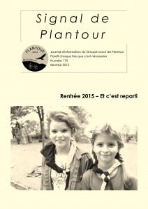Signal de Plantour 175 - Rentrée 2015