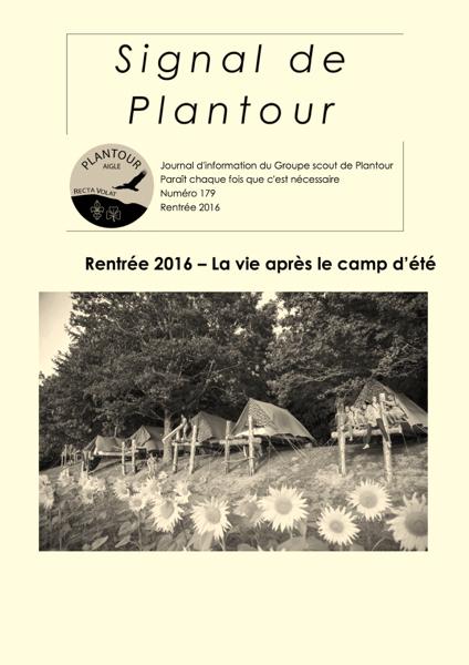Signal de Plantour 179 - Rentrée 2016