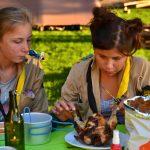 Aline & Genette au banquet d'ouverture