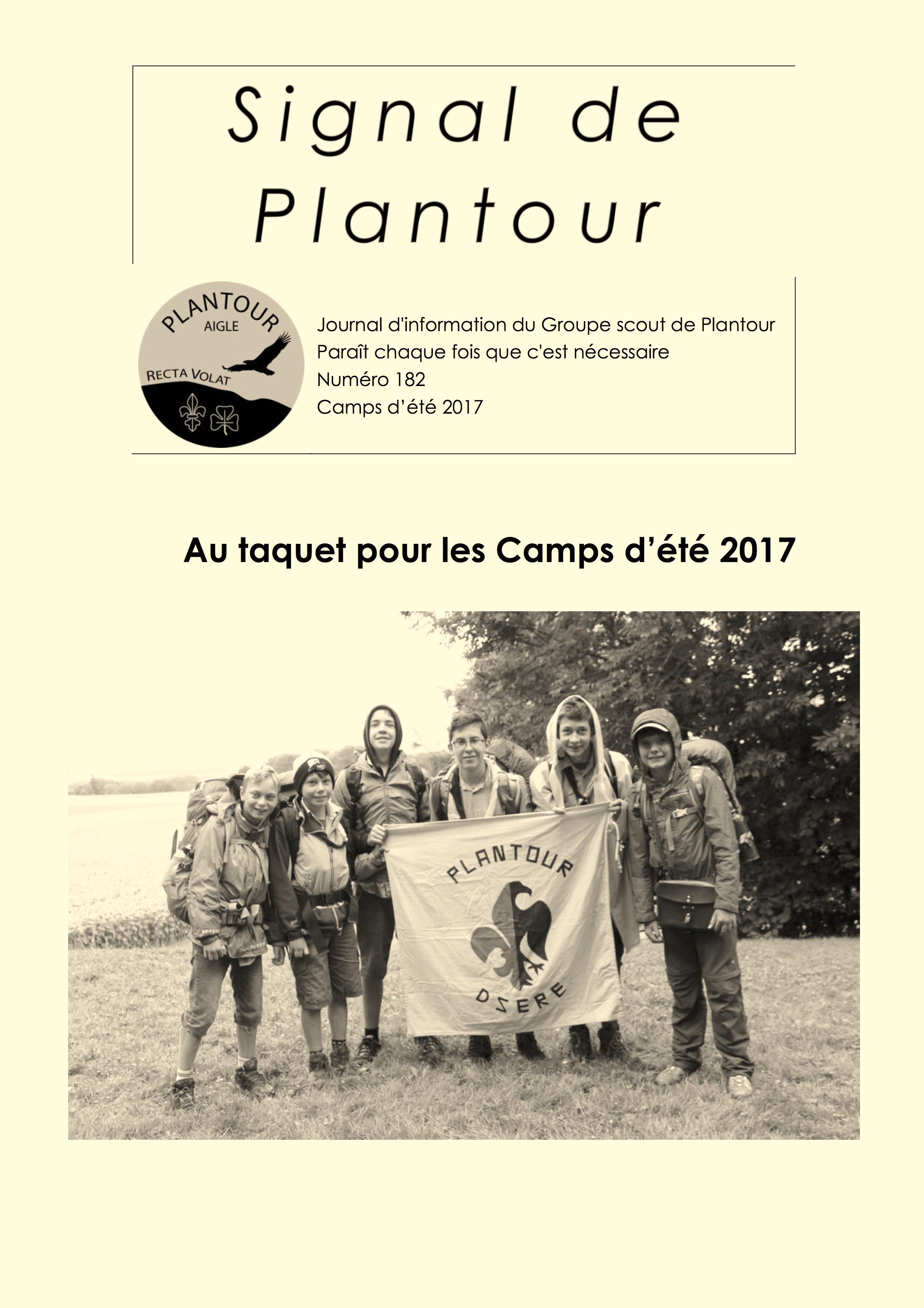 Signal de Plantour 182 - Été 2017