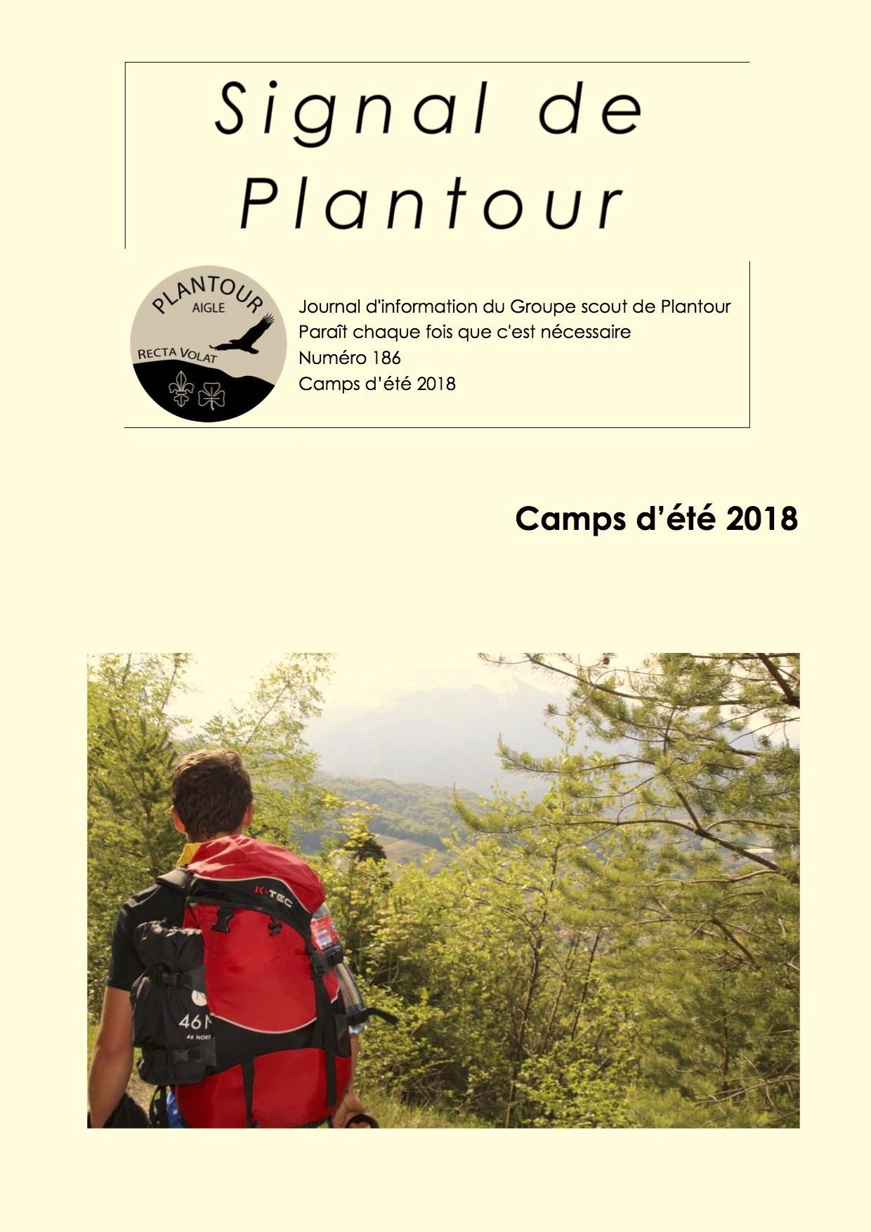 Signal de Plantour 186 - Été 2018